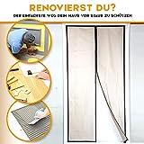 Original Staubschutztür von Plava [220cm x 110cm] mit Magnetverschluss inkl. Klebeband - Für Renovierungen & Umbauten
