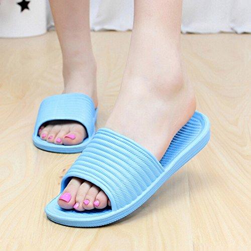 Qianle De Sapatos Banho Chuveiro Chinelos Azure 38 Banho De Unisex adultos Antiderrapante amp; EOwqzEYr