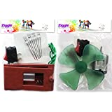 (Pack of 3 return Gifts 2 kits each) Return gift Engineering DIY kit for kids under 12 years . 2 experiments . Wind mill, Fan and Led lights system
