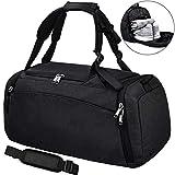 NEWHEY Sporttasche Männer Reisetasche mit Schuhfach Gym Fitness Tasche mit Rucksack-Funktion 40 Liter Handgepäck Weekender Groß für Herren
