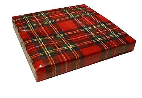Royal Stewart Tartan Plaid carreaux rouge papier Serviettes/Serviettes en papier 20par paquet