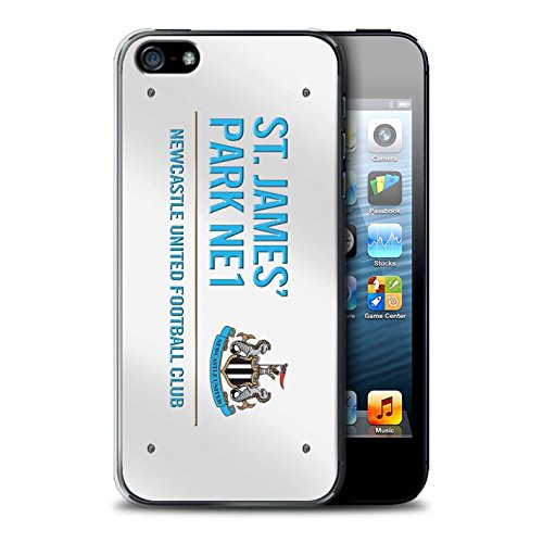 Offiziell Newcastle United FC Hülle / Case für Apple iPhone SE / Pack 6pcs Muster / St James Park Zeichen Kollektion Weiß/Blau