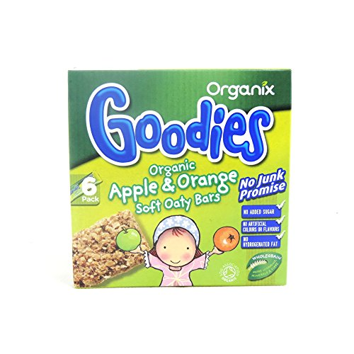 Organix Goodies - Organic Soft Oaty Bars - Apple & Orange - 6x30g (Case of 6)