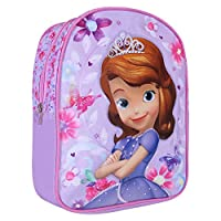 Sofia The First Backpack for Girls - Small Backpack for School and Kindergarten - Schoolbag with Adjustable Shoulder Straps - Violet - 31x24x10 cm - Perletti
