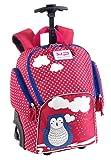 Sac à dos avec roulettes lumineuses pour fille maternelle sac CHOUETTE de Bodypack