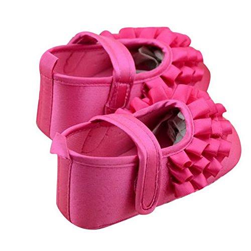 DEHANG - Chaussures Premiers Pas Bébé fille - Semelle Souple Antidérapantes - Rouge Rouge