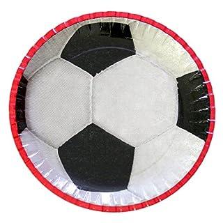 autooptimierer.de Fußball Partyteller Pappteller 23 cm Fussball Party Set Deko Kinderfußball Party Teller Geburtstag Verein Feier (25 Stück)