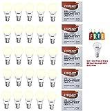 Eveready Base B22D 7-Watt LED Bulb - Golden Yellow Pack of 25 + Get Oreva 6 or 8W Cool Day Light LED Bulb Free