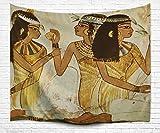 Wandteppich Exotisch, Wandtuch Psychedelic Frauen des Pharao von Wandbehang Cleopatra Goa Tuch Gobelin Tapisserie wall-hanging tapestry Stickerei Strandtuch Kilim (ägyptisch Frauen, 180 x 200 cm)