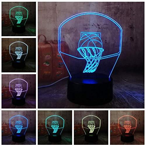 Nachtlicht NEU 3D Basketballkorb Sport Wohnaccessoires LED Illusion USB Touch 7 Farbwechsel Lampe Schlafzimmer Nachtlicht Kind Kinder Mann Geschenk Weihnachtsgeschenk