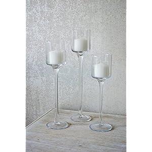 Kathryn Louise Decor Elegante Teelicht Glas Kerzenhalter | Weihgabe  Hochzeit Mittelpunkt Dekoration | Home Tisch Dekoration
