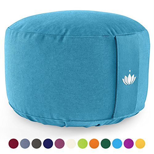 Lotuscrafts Cojin Meditacion Yoga Lotus - Altura 20 cm - Relleno con...