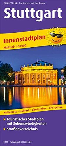 Stuttgart: Touristischer Innenstadtplan mit Sehenswürdigkeiten und Straßenverzeichnis. 1:18000 (Stadtplan / SP)