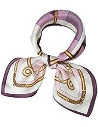 1dd7287d5 corciova Women 100% Mulberry Silk Neck Scarf Small Square Scarves  Neckerchiefs