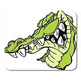 AOCCK Gaming Mauspads, Gaming Mouse Pad Lizard Gator Alligator Cartoon Crocodile Animal Croc Face Grin 11.8'x 9.8' Decor Office Nonslip Rubber Backing Mousepad Mouse Mat