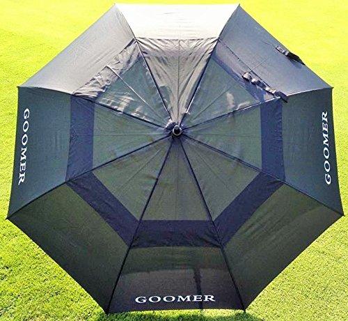 Regenschirm Golfschirm Partnerschirm XXL riesig 8-teilig Doppeldach+Ventilation (Schwarz 1 Stück)