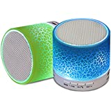MobStore Wireless Bluetooth Mini S-10 Led Speaker With TF Card Slot USB Port Pause And Play Adjustments For Mobile Phones PC Tablets