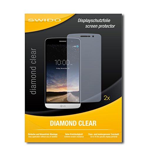 SWIDO 2 x Bildschirmschutzfolie LG Ray X190 Schutzfolie Folie DiamondClear unsichtbar