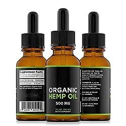 3 PCS Hanföl für Schmerz & Angst Relief 500MG - Anti-Inflammatory Stress Pure Hanf-Extrakt-Öl für Einen Besseren Schlaf von ROMANTIC BEAR