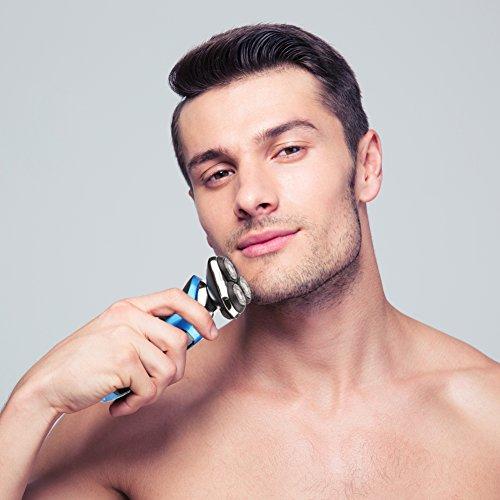 SURKER máquina de afeitar afeitadoras eléctricas Multifunción y Tres cabezas Giratoria  Mejor regalo para novio y marido