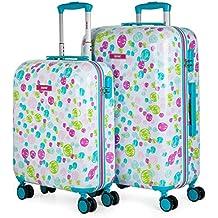 SKPAT - Maletas de Viaje Infantil Rígidas 4 Ruedas Trolley ABS. Neceser. Resistentes y