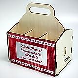 Bierträger aus Holz - SixPack - Muttertag - Geschenke für Frauen (Liebe Mama! Ich wünsche Dir alles Gute zum Muttertag!)