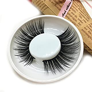 IGEMY 1 Pair Luxury 3D False Lashes Fluffy Strip Eye Lashes Nautral Party (A)