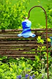Gartenkugel Tulpe Tropfen, Blume mit Hakenhalter Schäferstab Winterfest & ROBUST Glas-Dekoration Blüte Gartentulpe Glocke Rosenkugel 17 cm Gross Form Tulpe 125cm Höhe mit Schäferstab -Tulpenform dun