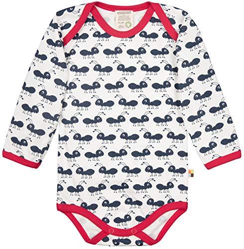 loud + proud loud + proud Unisex Baby Body Langarm aus Bio Baumwolle, GOTS Zertifiziert Spieler Blau (Navy Ny), Herstellergröße: 50/56