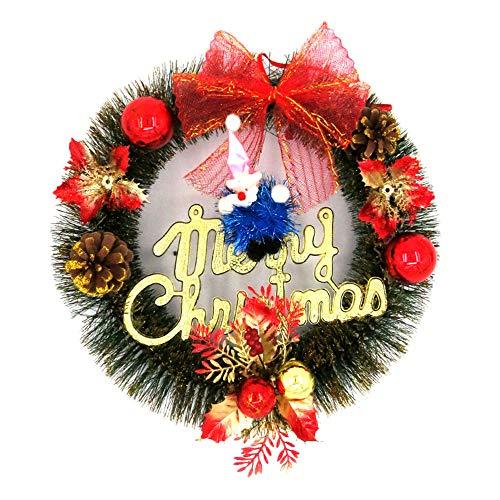 VHVCX Weihnachtskränze, Weihnachtsschmuck, Geschenke, Kränze, Geschenke, Kränze, Weihnachtsbaum Zubehör, Türen, Festival-Partei-Dekorationen, Türen, Schränke Ring, 30Cm