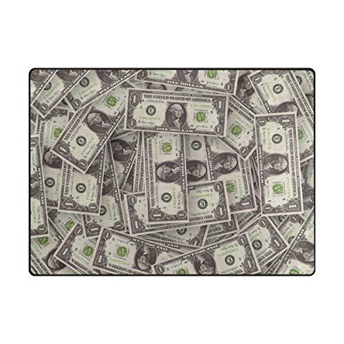 FAJRO Banknote American Dollars Muster Teppiche für Eingangsbereich Fußmatte Bereich Teppich Multimuster Fußmatte Schuhe Schaber Home Dec Anti-Rutsch Indoor/Outdoor, Polyester, 1, 80 x 58 inch (80-dollar-schuhe)