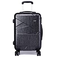 Kono Fashion 4 Wheels Travel Luggage Sets PC Hard Shell Suitcases 3 Pieces 20 24 28 Inches Suitcase (Grey 28