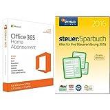 Microsoft Office 365 Home - 5PCs/MACs - 1 Jahresabonnement - multilingual (Product Key Card ohne Datenträger) + WISO steuer:Sparbuch 2016 (für Steuerjahr 2015)