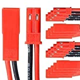 BEC JST Steckverbinder Stecker Buchse mit Kabel AWG 20 10 Paar partCore