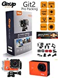 'GitUp Git2 Pro Edition Orange 2 K 30 FPS 1.5 LCD 16 MP Sony imx206 CMOS Sensor Novatek 96660 1080P WiFi Aktion Sport Kamera Wasserdicht Camcorder (GitUp Git2 Pro Packing Offizielle mit 10 Zubehör). Möglichkeit Versand 24 Stunden, 2 Jahre Garantie in Spanien von GitUp Spanien.