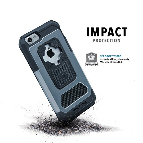 Rokform Aluminium iPhone 7 Fuzion Taschen + RMS (Gun Metal) Gun Metal