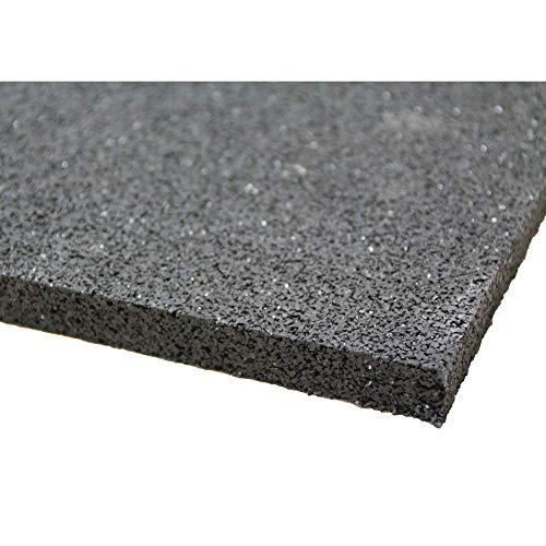 Tapis de machine à laver en granulés de caoutchouc - 60 x 60 x 0,6cm * Robuste * Haute densité * Polyvalent   Base de machine à laver amortissant les vibrations, tapis de granulés de caoutchouc, tapis anti-vibration