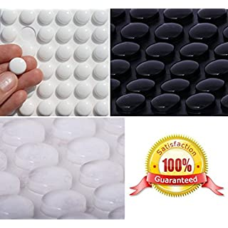 Simply the Best 3M RUBBER FEET Bumpons ~ 14mm Dia x 6mm Height ~ BLACK, CLEAR, WHITE ~ Furniture Protectors Stoppers (Clear, 20 Individual Bumpons)