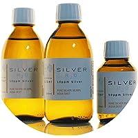Preisvergleich für PureSilverH2O 600ml Kolloidales Silber (2X 250ml/10ppm) + Flasche (100ml/50ppm) Reinheit & Qualität seit 2012