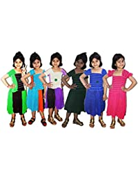 IPP Baby Girls Birthday Frock Crop Dress_Cute Pastel_Cotton Fabric_3-4 Years(Pack of 6)