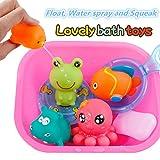 I giocattoli possono galleggiare sull'acqua e suonano quando se lo spreme. Nel processo di giocare con questi giocattoli, è possibile migliorare la coordinazione occhio-mano e lo sviluppo dell'intelligenza bambini.  Godersi il bagnetto, a partire ...