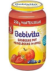 Bebivita Erdbeere mit Heidelbeere in Apfel, 1er Pack (1 x 250 g)