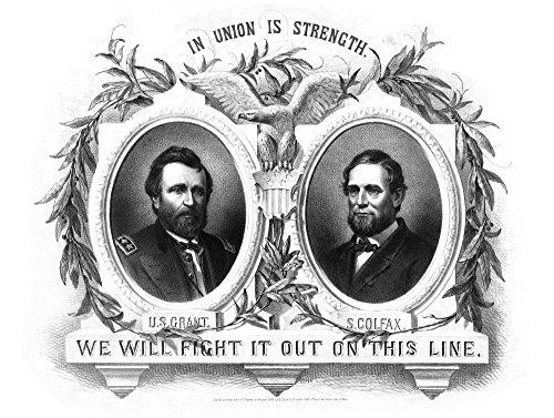 (John Parrot/Stocktrek Images – Digitally Restored Presidential Poster of Republican Party Nominees. Photo Print (82,80 x 62,48 cm))