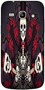 Snoogg Skeletons In Tophats And Roses 2695 Designer Protective Back Case Cove...