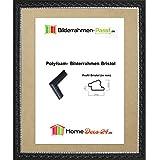 Bristol Prunk Barock Bilderrahmen 37 x 81 cm Größen Auswahl 81 x 37 cm hier: Schwarz mit Acrylglas Antireflex 1 mm