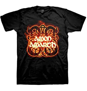 Amon Amarth - Fire Horses(T-Shirt Schwarz)Amon Amarth Shirt F & B Print !!! (L(Large))