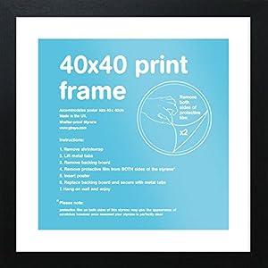 GB Eye Bilderrahmen, 40 x 40 cm, schwarz