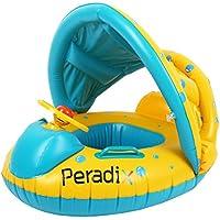 Peradix Piscina Salvagente per Bambini con Tettuccio e Mutandina Baby Float (Giallo -Blu)