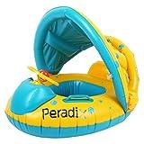 Peradix Aufblasbares Kinderboot Baby Schwimmring Beach Sommer Hingucker für Wasserspaß Familienspaß in See Meer & Schwimmbad umweltfreundlich PVC (Gelb(neu mode))