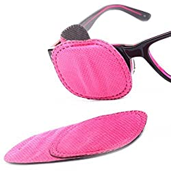 Plinrise 6pcs Amblyopia Eye Patches For Glasses, Kids Eye Patch,Strabismus, Lazy Eye Patch For Children,Pink Color
